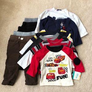 Toddler Boy Clothes Lot of 11 Sz 12 months